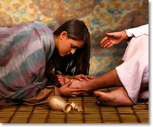 Woman Anointing Jeszus Feet